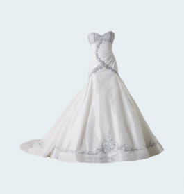 White Lace Wedding Dress For Bridal